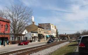 Historic Railroad Street; Midway, KY