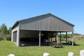 The Picnic Pavilion and the '40 et 8' Boxcar