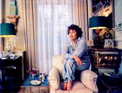 Ava in her London apartment, 1980s.