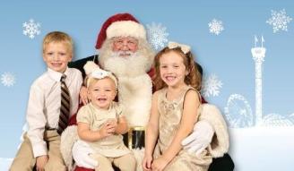 North Pole at the Fair - Santa with kids