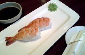 Shrimp Sushi at Asakusa