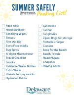 Summer Safely Packing List