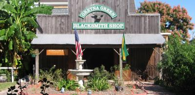 Gretna blacksmith shop exterior