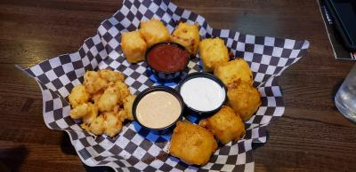 Cheese Curd Sampler at Milwaukee Burger Co.