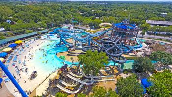 Schlitterbahn Waterpark-aerial view