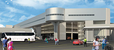 Elevated bridge will allow cruise passengers access to Terminal 2 from the parking garage.