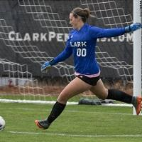 Clark College womens soccer player