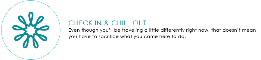 Check In, Chill Out Graphic