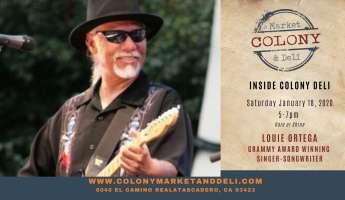 Grammy Winning Louie Ortega at Colony Deli Concerts: Atascadero