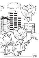 Coloring Page - Downtown Shreveport 2