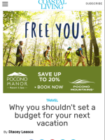 2017 Summer Marketing Campaign -  Online - Coastalliving.com.com - Pocono Manor Resort & Spa