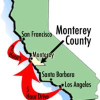Monterey County CA Map