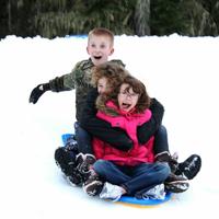 Winter Sno-Park Snow Play by Traci Williamson