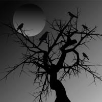 graphic of crows in a tree
