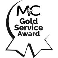 M&C Gold Service Award Seal