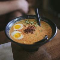 Bowl of spicy ramen