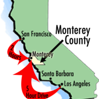 Monterey County California Map.Maps Of Monterey County Travel Information And Attractions