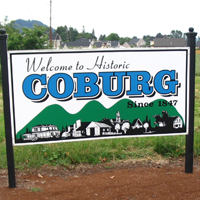 Historic Coburg Sign