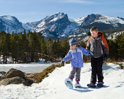 Children Snowshoe Winter