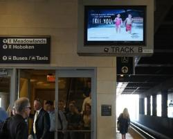 2017 Summer Marketing Campaign - NJT Station Digital Screen - Pocono Mountains Visitors Bureau