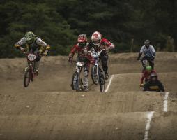 North SeaTac Park BMX Riders racing on track