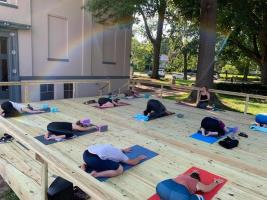 People On Yoga Mats At Inner Spring Yoga