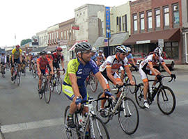 The annual CIBA Cemetery Ride leaves downtown Martinsville.