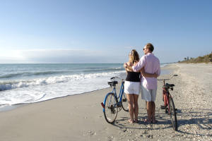 Beach Couple Bikes