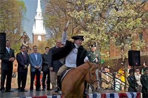 Paul Revere rider reenactment
