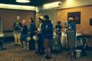 Samba Ja, Eugene's own version of a drum line