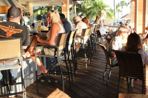Sunset Waterfront Bar & Grill patio