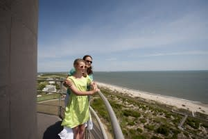 On top of a lighthouse