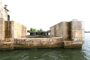 Old intercoastal bridge remnant on Gasparilla Boat Tour