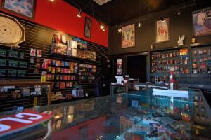 Counter and walls inside the JB Magic Shop