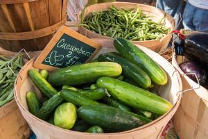 New Albany Farmers Market Bowl Of Cucumbers
