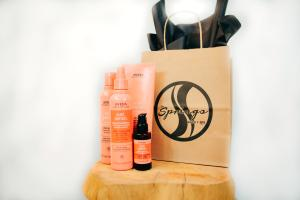 Hair products from The Springs Salon