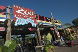 Entryway signs to the Columbus Zoo & Aquarium