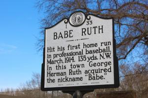 Babe Ruth Marker