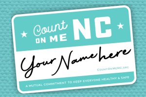 count on me nc decal