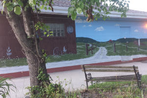 Mural in Eminence, Indiana.
