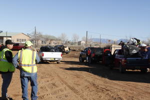 Cars at the Valencia county clean up