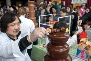 Chocolate Fountain at The Chocolate Expo