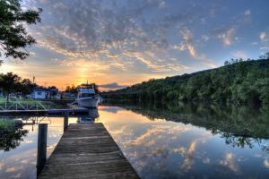 Ilion, Sunset at the Marina by Cliff Oram