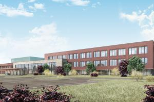 Rendering of Aurora Health Care Ambulatory Surger Center and Physician Office Building