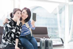 Women take Selfie