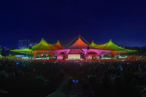 The Cynthia Woods Mitchell Pavilion Colored Tents