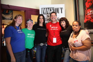 volunteers and attendees at the ImageOut Film Festival in Rochester, NY