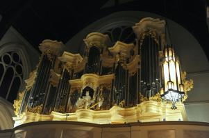 Ornate Organ at Christ Church in Downtown Rochester, NY