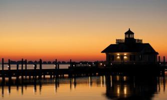 Roanoke Island Marshes Lighthouse Sunset