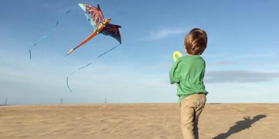 Child Flying a Kite at Jockeys Ridge
